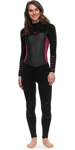 2018 Roxy Womens Syncro Plus 4/3mm Chest Zip LFS Wetsuit BLACK ERJW103030