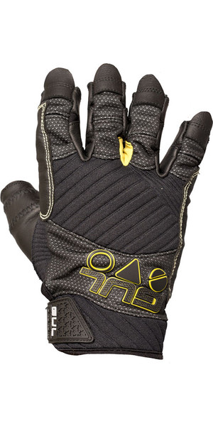 2019 Gul EVO Pro Short Finger Sailing Glove Black GL1299-B4