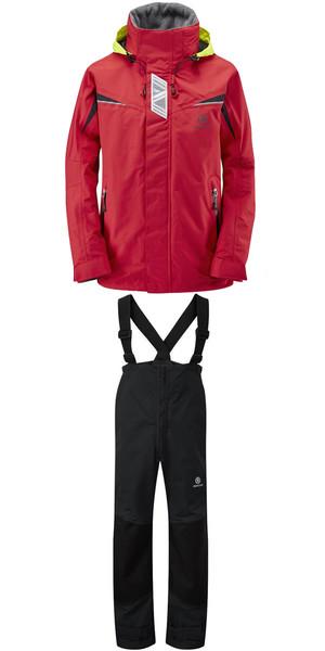 2019 Henri Lloyd Wave Inshore Jacket Y00353 & Hi-Fit Trousers Y10162 COMBI SET RED / BLACK
