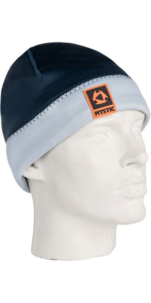 2019 Mystic 2mm Neoprene Beanie Navy / GREY 180038
