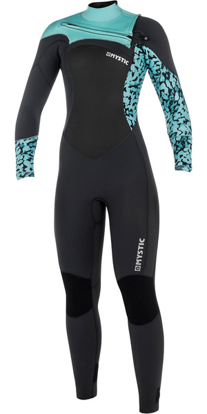 2018 Mystic Diva Womens 3/2mm GBS Chest Zip Wetsuit - Grey 180024