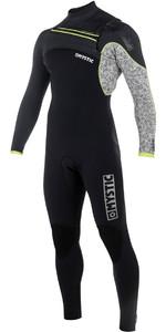 2018 Mystic Drip 4/3mm GBS Chest Zip Wetsuit - Black / Grey 180011