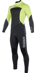 Mystic Star 3/2mm GBS Back Zip Wetsuit - Lime 180020