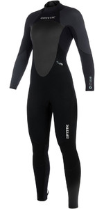 2019 Mystic Star Womens 3/2mm GBS Back Zip Wetsuit - Black / Grey 180030