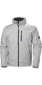 2020 Helly Hansen Hooded Crew Mid Layer Jacket Grey Fog 33874