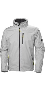 2020 Helly Hansen Hooded Crew Mid Layer Jacket Grey Fog 33874