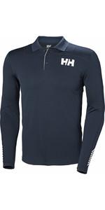 2019 Helly Hansen Lifa Active Light LS Polo Navy 49332