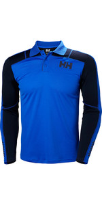 2019 Helly Hansen Lifa Active Light LS Polo Olympian Blue 49332