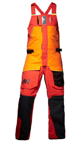 2019 Helly Hansen Skagen Offshore Bib Trousers Blaze Orange 33908