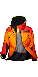 2019 Helly Hansen Skagen Offshore Jacket Blaze Orange 33907