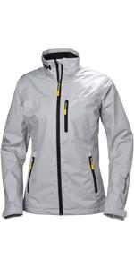 2020 Helly Hansen Womens Crew Jacket Grey Fog 30297