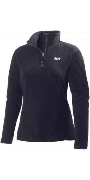 2019 Helly Hansen Womens Daybreaker 1/2 Zip Fleece Black 50845