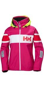 2019 Helly Hansen Womens Salt Flag Jacket Dragon Fruit 33923
