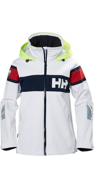 2019 Helly Hansen Womens Salt Flag Jacket White 33923