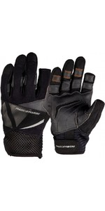 2020 Magic Marine Junior Three Finger Ultimate Sailing Gloves Black 180005
