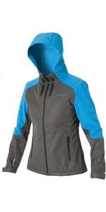 2020 Magic Marine Womens Reefer Jacket Grey / Blue 160500