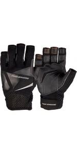 2019 Magic Marine Junior Short Finger Ultimate Sailing Gloves Black 180007