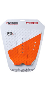 2019 Northcore Ultimate Grip Deck Pad Orange / White NOCO63E