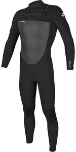 2021 O'Neill Mens Epic 4/3mm Chest Zip Wetsuit 5354 - Black