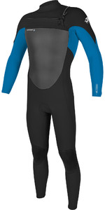 2020 O'Neill Mens Epic 4/3mm Chest Zip Wetsuit 5354 - Black / Bright Blue