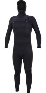 2020 O'Neill Mens HyperFreak+ 4/3mm Chest Zip Hooded Wetsuit 5346 - Black
