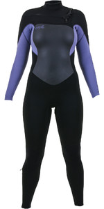 2019 O'Neill Womens Epic 4/3mm Chest Zip GBS Wetsuit Black / Mist 5356