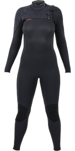 2019 O'Neill Womens Hyperfreak+ 4/3mm Chest Zip Wetsuit Black 5349