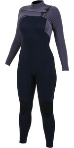 2019 O'Neill Womens Hyperfreak+ 4/3mm Chest Zip Wetsuit Abyss / Dusk 5349