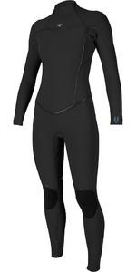 2019 O'Neill Womens Psycho One 4/3mm Back Zip Wetsuit BLACK 5097