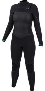2021 O'Neill Womens Psycho Tech 5/4+mm Chest Zip Wetsuit Black 5367