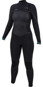 2020 O'Neill Womens Psycho Tech 5/4+mm Chest Zip Wetsuit Black 5367