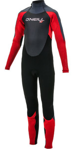 2019 O'Neill Youth Epic 4/3mm Back Zip GBS Wetsuit Black / Red 4216