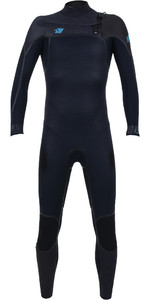 2019 O'Neill Youth Psycho One 5/4mm Chest Zip Wetsuit Abyss / Acid Wash / Raven 4995