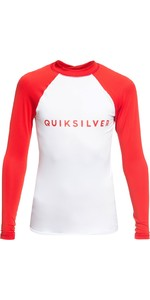 2019 Quicksilver Boys Always There LS Rash Vest High Risk Red EQBWR03077