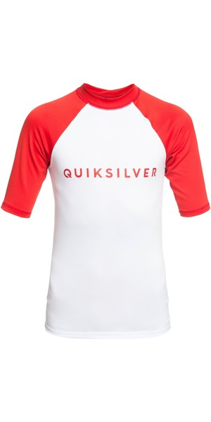 2019 Quicksilver Boys Always There SS Rash Vest High Risk Red EQBWR03076