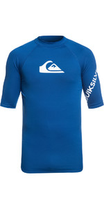 2020 Quiksilver All Time Short Sleeve Rash Vest Electric Royal Blue EQYWR03136