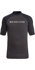 2019 Quiksilver Always There Short Sleeve Rash Vest Black EQYWR03142