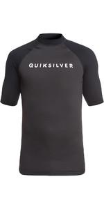 2019 Quiksilver Always There Short Sleeve Rash Vest Black EQYWR03142