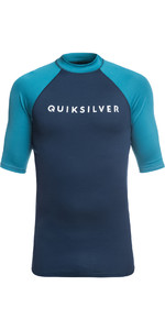 2019 Quiksilver Always There Short Sleeve Rash Vest Medieval Blue EQYWR03142