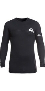 2019 Quiksilver Core Performer Long Sleeve Rash Vest Black EQYWR03157