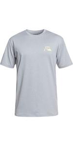 2019 Quiksilver El Capitan Short Sleeve T-Shirt Fit Rash Vest Heather Grey EQYWR03158