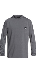 2019 Quiksilver Salty Dogs Long Sleeve Hoodie Rash Vest Grey Heather EQYWR03147