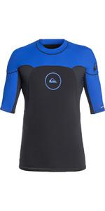 2019 Quiksilver Syncro Series Short Sleeve Rash Vest Graphite / Blue EQYW903004