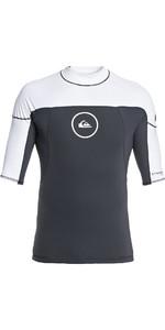 2019 Quiksilver Syncro Series Short Sleeve Rash Vest GunMetal / White EQYW903004