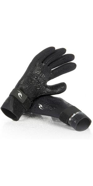 2019 Rip Curl E-Bomb 2mm 5 Finger Neoprene Glove Black WGL5SE