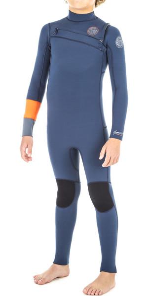 2019 Rip Curl Junior Boys Aggrolite 4/3mm Chest Zip Wetsuit Orange WSM8LB