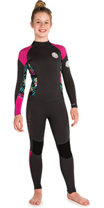 2019 Rip Curl Junior Girls Dawn Patrol 3/2mm Flatlock Back Zip Wetsuit Purple WSM8DS