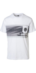 2019 Rip Curl Mens Action Original Surfer T-Shirt Optical White CTEDA5