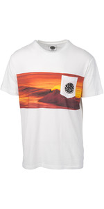 2019 Rip Curl Mens Action Original Surfer T-Shirt White CTEDA5