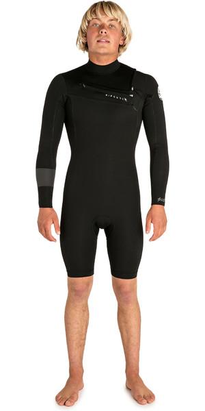 2019 Rip Curl Mens Aggrolite 2mm Chest Zip Long Sleeve Shorty Wetsuit Black WSP6HM
